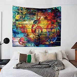 Other - Music Note Wall Tapestry